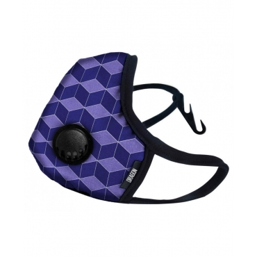 Maska antysmogowa DRAGON Casual ( purple cube )