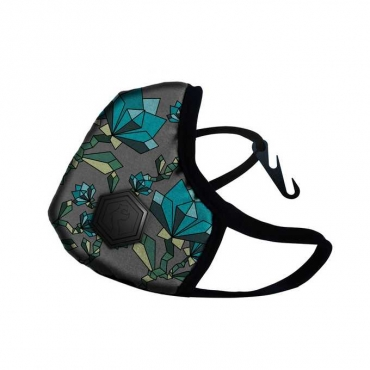 Maska antysmogowa DRAGON Casual (  floral turquoise )