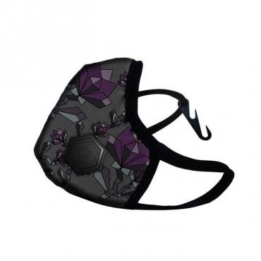 Maska antysmogowa DRAGON Casual (  floral purple )