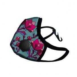 Maska antysmogowa DRAGON Casual ( floral pink )